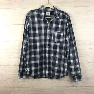 AG by Adriano Goldschmied Green Plaid Button Down
